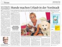 zeitungsartikel ueber dogs place mit dem title hunde machen urlaub in der nordstadt